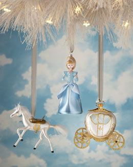 De Carlini Fairytale Princess Glass Christmas Ornaments