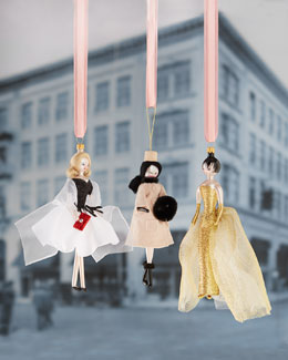 De Carlini Fashionista Christmas Ornaments
