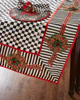 MacKenzie-Childs Christmas Table Linens
