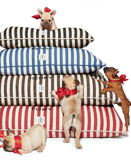 Small Personalized Vintage-Inspired Dog Bed