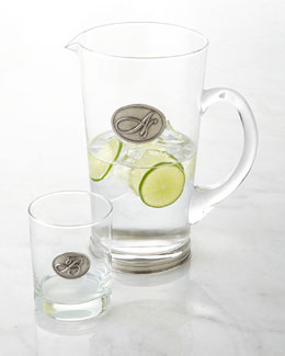 VAGABOND HOUSE Monogram Glassware