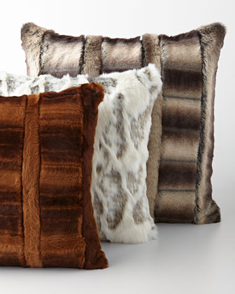 Faux-Fur Pillows & Bed Shams