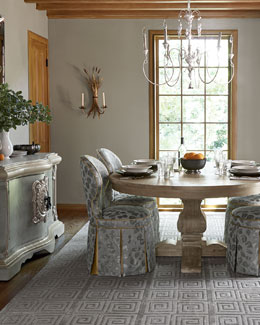 Haute House Taylor Pedestal Table & Samantha Garden Dining Chair