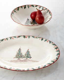 Bizirri Holiday Bowl & Platter