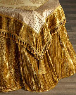 Golden Velvet Table Linens