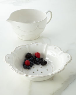 "Juliska ""Berry & Thread"" Batter Bowl & Colander"