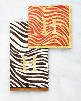 Serengeti Zebra-Stripe Napkins/Guest Towels