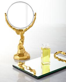 Michael Aram Rock Vanity Mirror and Tray