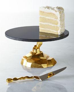 Michael Aram Rock Cake Stand & Server