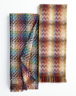 Missoni Home Collection Husky Plaid Throw & Montgomery Zigzag Throw