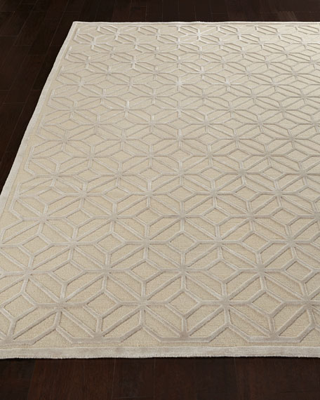 Diamond Filigree Rug, 6' x 9'