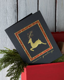 "Carlson Craft ""Elegant Deer"" Personalized Holiday Greeting Cards"