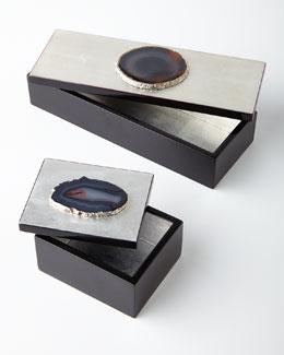 Carina Agate Trinket Boxes