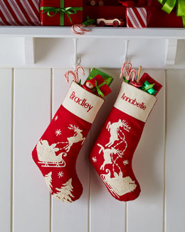 Red Santa & Sleigh Stockings