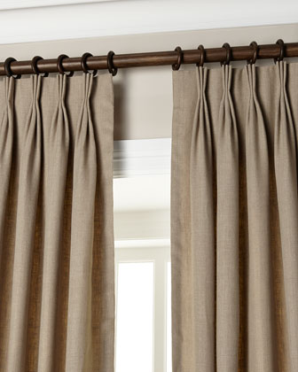 Pom Pom At Home Each 42 W X 96 L Smocked Linen Curtain