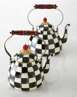 MacKenzie-Childs Courtly Check Tea Kettle