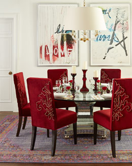 Haute House Erlinda Dining Table & Miguel Dining Chairs