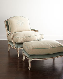 Misty Bergere Chair & Ottoman