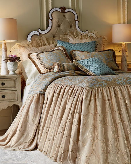 Queen Grace Skirted Coverlet