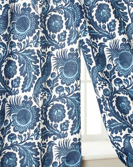 Haveford Bleu Curtains