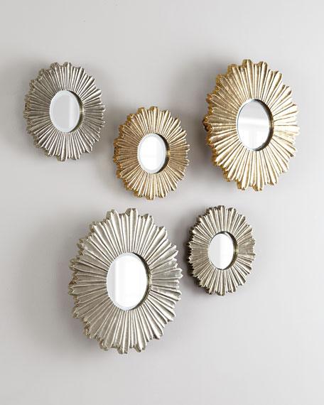 Soliel Small Silver Mirror
