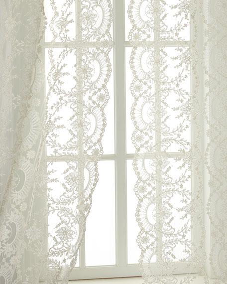 "Each 52""W x 96""L Chantilly Lace Curtain"