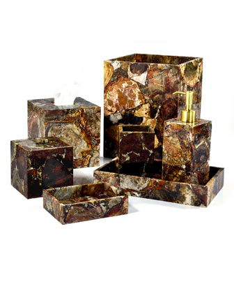 Petrified Wood Vanity Accessories
