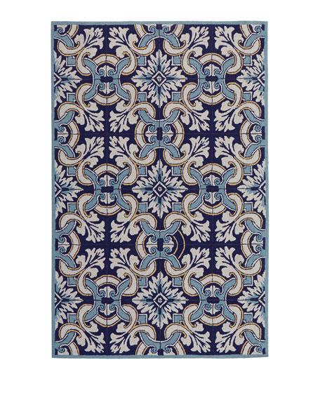 "Paige Floral Tile Indoor/Outdoor Rug, 8'3"" x 11'6"""