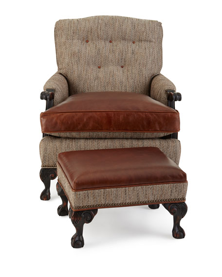 Old Hickory Tannery Beaumont Leather Chair Amp Ottoman