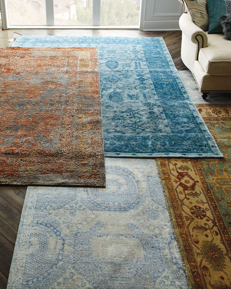 Sweet Blues Hand-Knotted Rug, 10' x 14'
