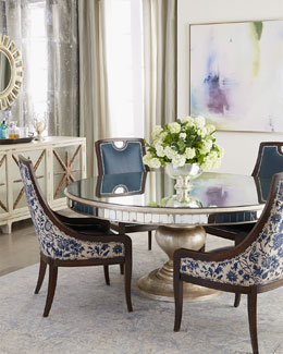 Kingsley Dining Chair & Lisandra Round Dining Table