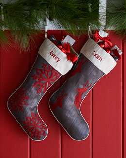 Gray Christmas Stockings