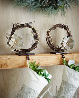 Vine Christmas Stocking Holders