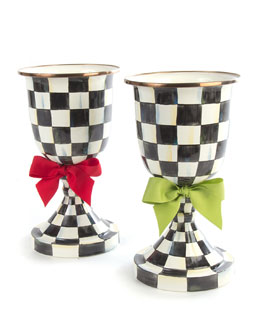 Courtly Check Pedestal Vases