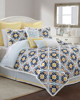 Savannah Tile-Print Bedding