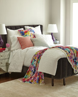White Asher & Gianna Bedding with Floral Accessories