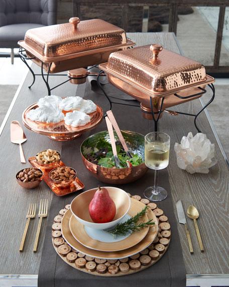 6-Quart Rectangular Copper-Plated Chafing Dish