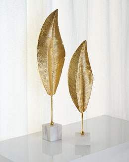 Golden Leaf Sculptures