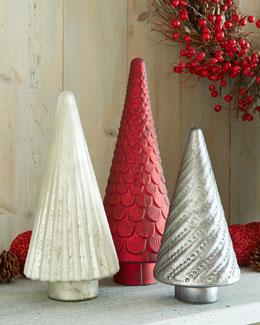 Mercury-Glass Christmas Trees