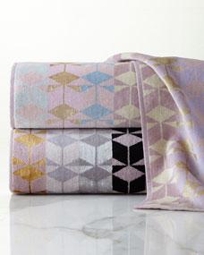 Ziporah Lifestyle Geometric Jacquard Towels