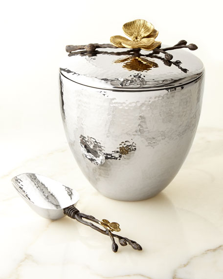 Gold Orchid Ice Bucket