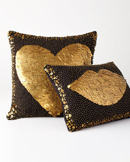 Black Lips & Heart Pillows