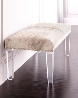 Brindle Hairhide Bench