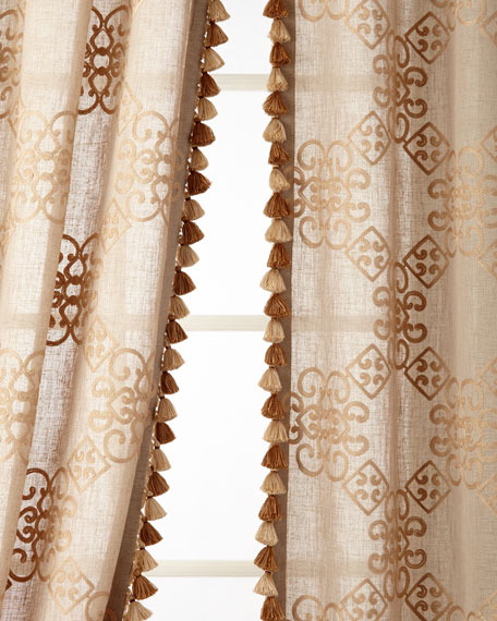 "Two 53""W x 108""L Stockholm Curtains"