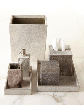 Vanity accessories bathroom vanities at horchow for Bathroom wastebasket sets