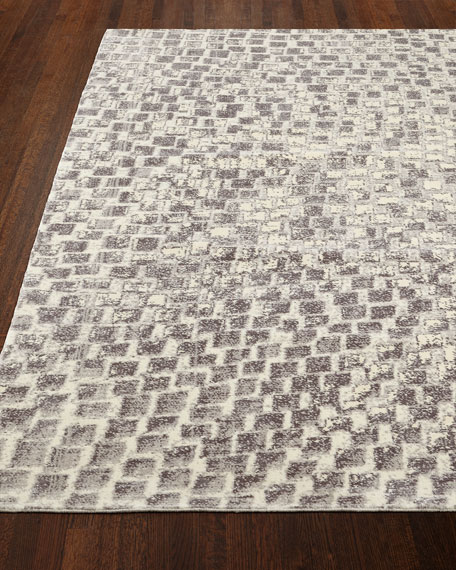 "Cream Tile Rug, 5'6"" x 8'"