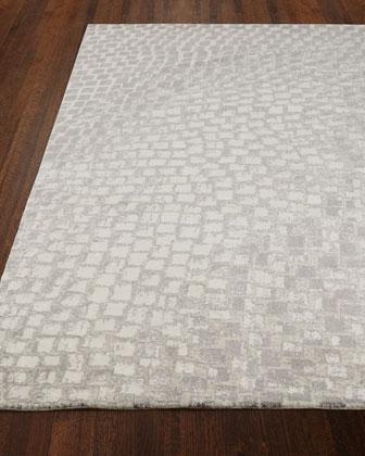 Cream Tile Rug