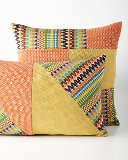 Orange Patch Pillows