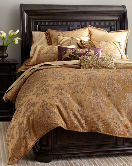 King Camilla Damask Duvet Cover