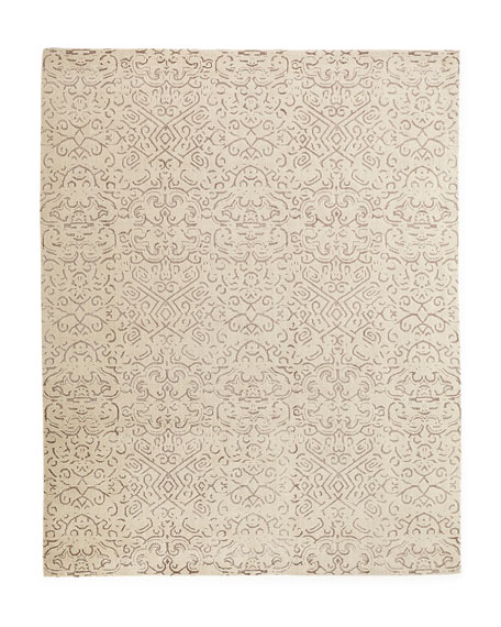 Etched Geometric Rug, 6' x 9'